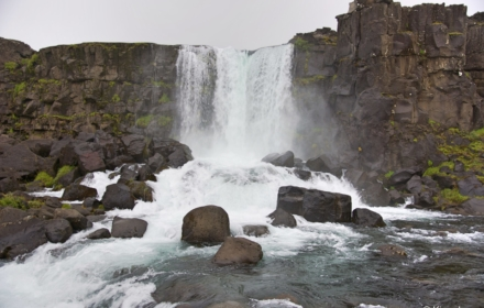 Oxararfoss Waterfalls - Iceland
