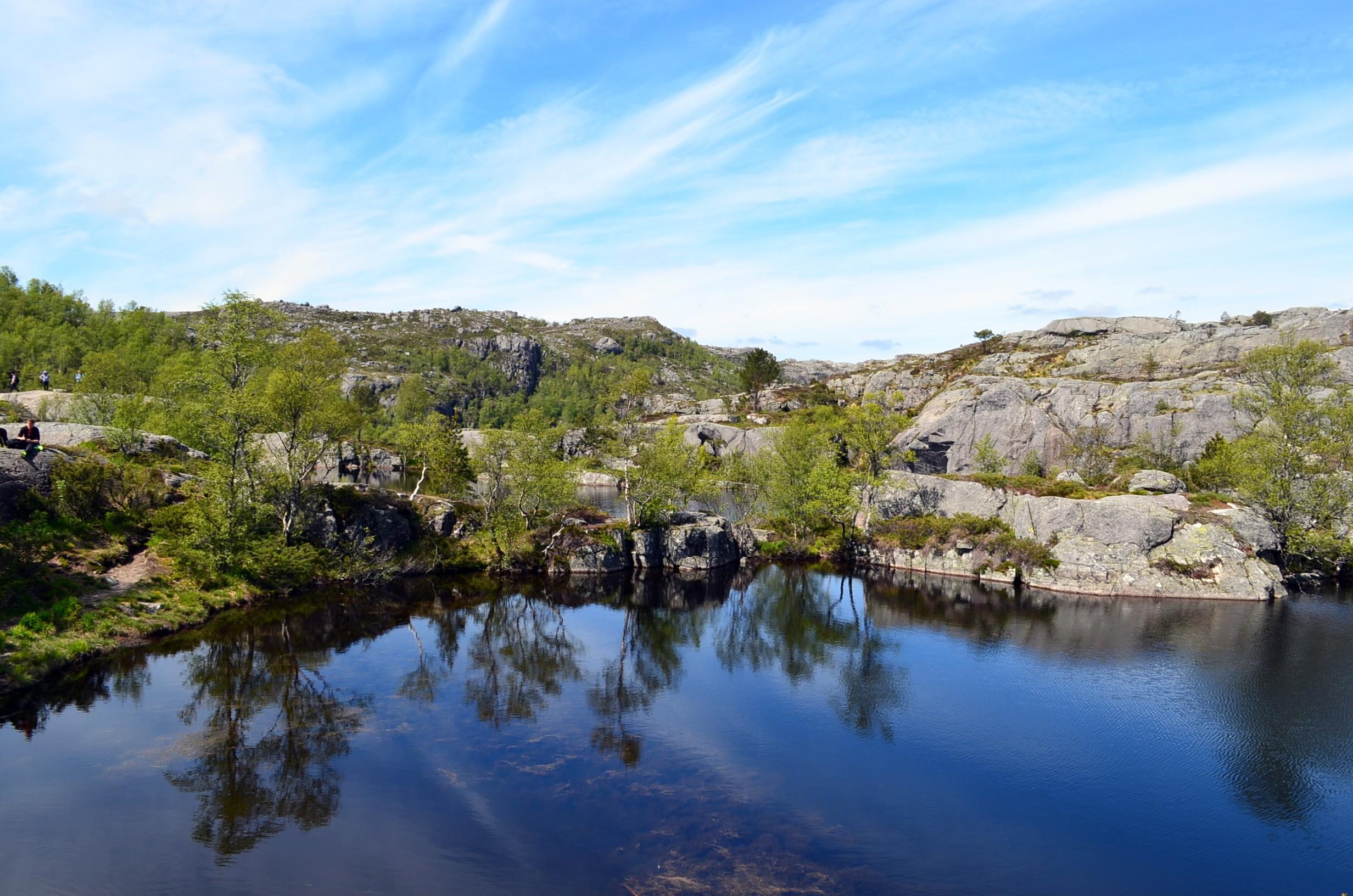 lake in Preikestolen ( Pulpit rock)