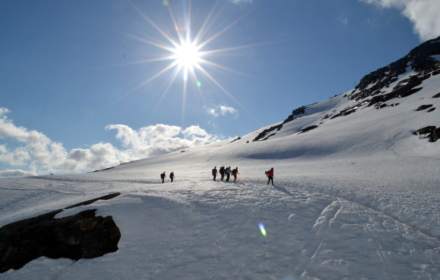 Walking on Snow en route to Trolltunga